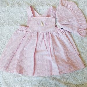 Darling brand new baby girl summer dress and hat💕